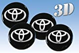 ホイールステッカートヨタ模造全サイズセンターキャップロゴバッジホイールトリム3D 60mm, Toyota