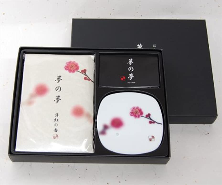 めんどり釈義ケージ日本香堂のお香ギフト 薄紅の香 【お香+香皿】