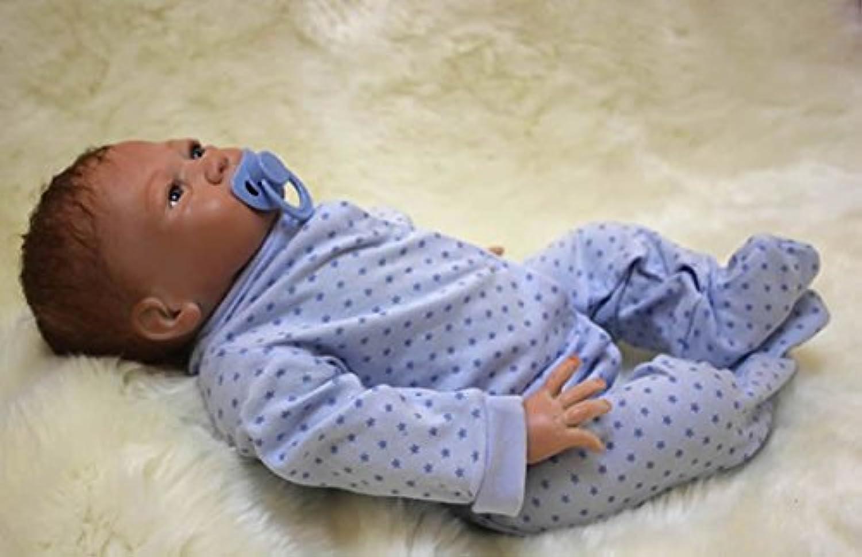 18インチ45 cm Rebornベビー人形布ボディRealsitic Lifelike新生児赤ちゃんシリコンBoy with Clothesキッズ誕生日クリスマスギフト