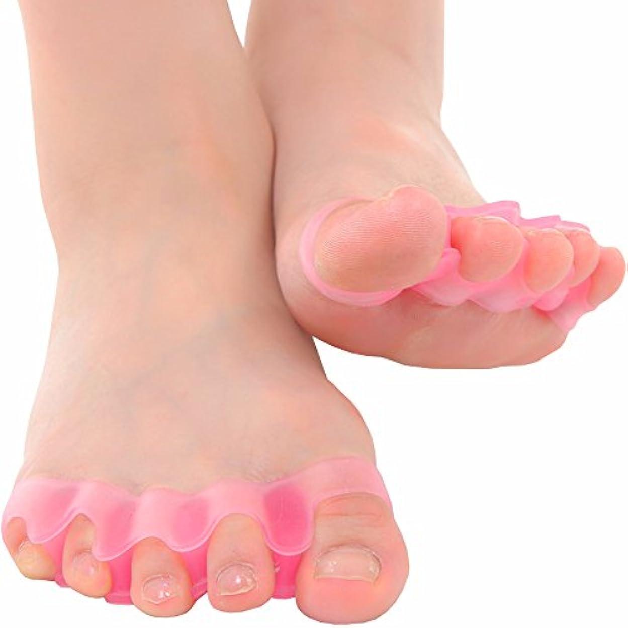 シロクマバケツオーバードローmark zenis  外反母趾 足指シリコン サポーター 女性用 2個セット ピンク
