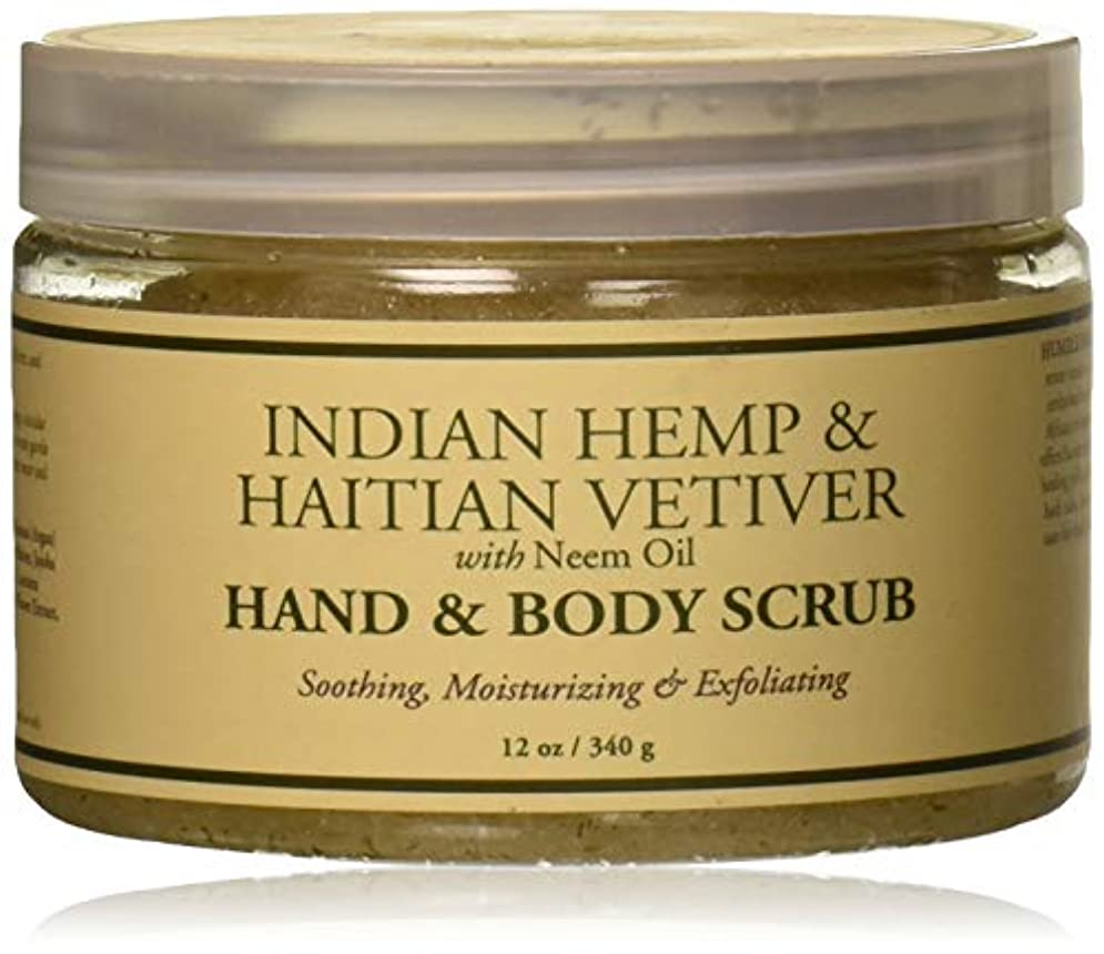 恥ずかしさ雇う関連付けるHand and Body Scrub - Indian Hemp and Haitian Vetiver - 12 oz by Nubian Heritage