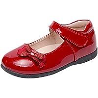 Zernar Girl's Mary Jane Flats School Shoes for School Uniform Shoes Strap Dress Flats (Toddler/Little Girl/Big Girl)