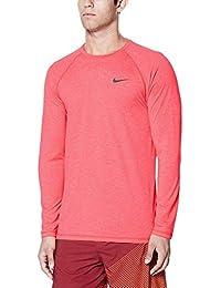 (ナイキ) Nike メンズ 水着?ビーチウェア ラッシュガード Nike Heather Long Sleeve Hydro Rash Guard [並行輸入品]
