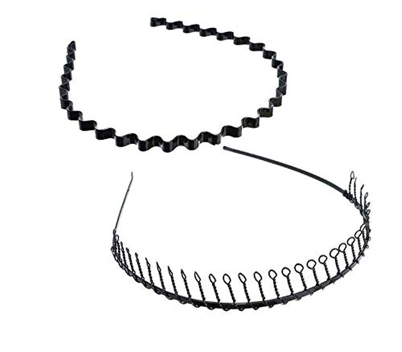 発火するすき傷つけるSALOCY カチューシャ メンズ コイルヘアバンド カチューシャ スプリング 髪留め 固定 ヘアアクセサリー 波型 くし付き 滑り止め 痛くない 前髪 髪飾り 男女兼用 2本 セット