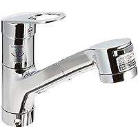 TOTO キッチン用水栓(台付1穴・シングルレバー・ハンドシャワー・吐水切替) TKGG32EBS