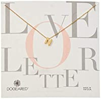 Dogeared Womens Love Letter Letter N Chain Necklace Gold ?16 with 2 Extension [並行輸入品]