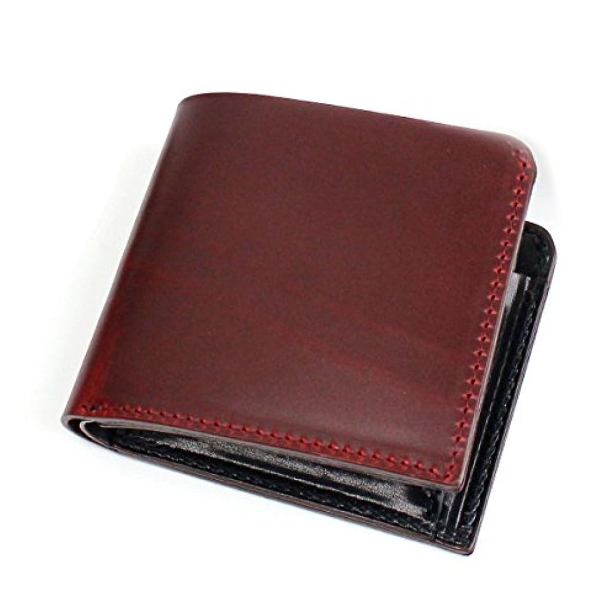 インスタンス住所非常にZOO BADGER BILLFOLD3 二つ折り財布 ZBF-005-RED