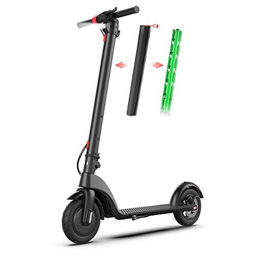 電動スクーター大人、キックタイヤ、折りたたみ式E-Bike 250WブラシレスOtor、36V充電、LEDライトとLCDディスプレイ搭載の8.5インチエアータイヤブラック