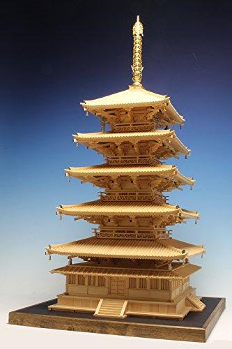 木製建築模型 1/70 薬師寺西塔(檜作り)