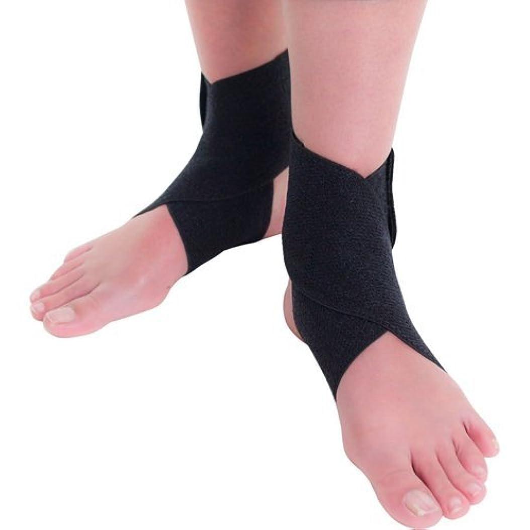公甘くする版竹虎 しっかり足首支援帯 ブラック フリーサイズ 2枚入
