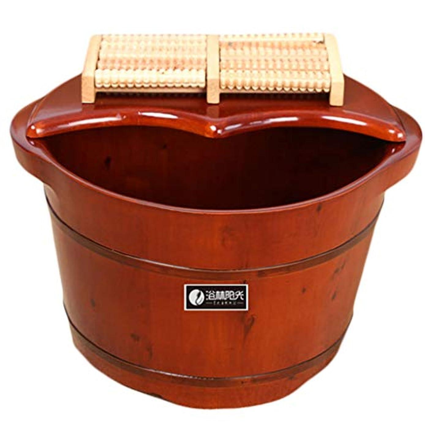 避ける脊椎書店マッサージFußbadekübel足浴注入バケット木製バケツペディキュアプールは、無垢材、家庭用足湯レッドウッドを緩和します