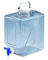 NALGENE ナルゲン透明活栓付角型瓶2322 9L /5-058-01