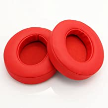 2pcs Replacement Ear Pad Cushion for Beats By Dr Dre Studio 2.0 Wireless Headset (Red)