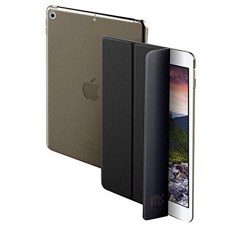 MS factory iPad 9.7 ケース カバー 2017 新型 第5世代 スマートカバー 新型iPad オートスリープ ケースカバー 全10色 ブラック 黒 IPD-5-SMART-BK