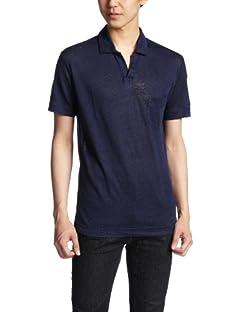 Linen Skipper Polo Shirt 1117-699-1692: Navy