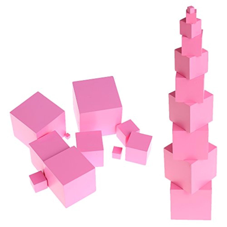 Kofan モンテッソーリ感覚材料タワーファミリーセット木製ビルディングブロックおもちゃキッド
