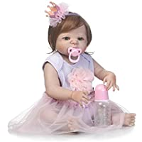 Realistic Lifelike 23インチ57 cmソフトシリコンReborn Baby Beautiful Girl人形幼児用フルボディビニール新生児Dolls解剖学的に正しいクリスマスギフト