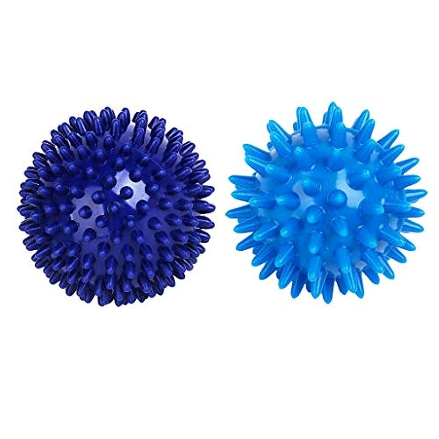 わかりやすい敏感な日食マッサージボール ハンドパーム トリガーポイント マッサージツール 疲労軽減 2ピース