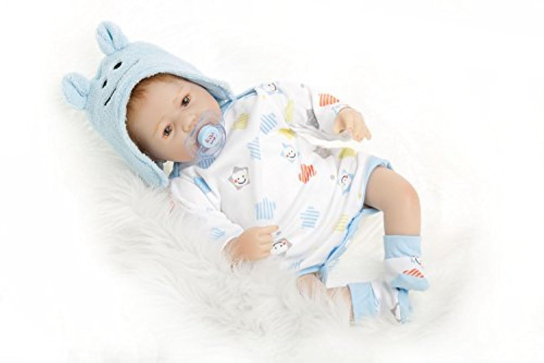 NPK collection Rebornベビー人形Realistic Baby dollsvinylシリコン赤ちゃん22インチ55 cm人形Newborn Realベビー人形Life Like Rebornおしゃぶりクリスマスギフトセット