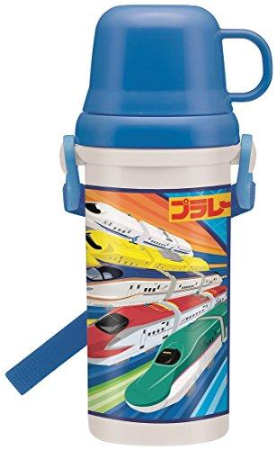 直飲み 水筒 コップ付き プラワンタッチ ボトル 480ml プラレール 17 PSB5KD