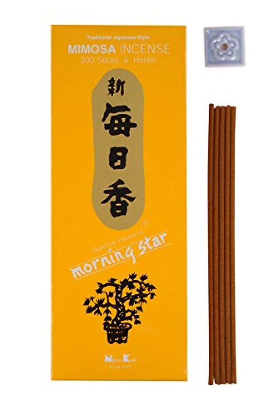 ケージ大理石つぶす日本香堂 モーニングスター ミモザ200本
