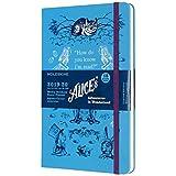 モレスキン 手帳 2019年7月始まり 18ヶ月 ウィークリーダイアリー 不思議の国のアリス ハードカバー ラージサイズ ブルー DAL18WN3Y20