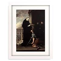 ムリーリョ 「Der hl.Thomas von Villanueva heilt einen Kranken.」 額装アート作品
