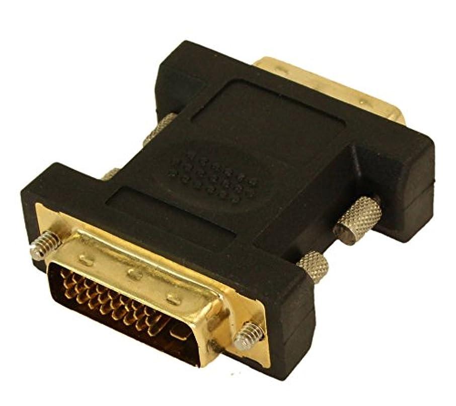 二十系譜端mycablemart DVI - DオスtoオスゴールドGender Changer