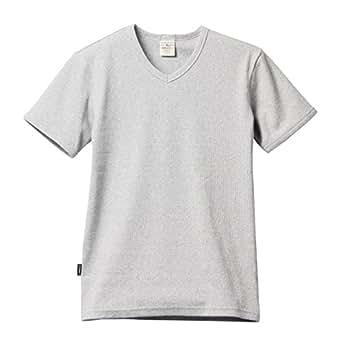 (アヴィレックス)AVIREX デイリーVネックリブTシャツ 半袖 S グレー