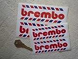 Brembo 'Roped' Oblong Stickers ブレンボ ステッカー デカール シール 海外限定 110mm x 35mm 2枚セット [並行輸入品]