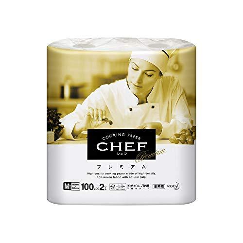 クッキングペーパー プレミアム Mサイズ 100枚×2ロール×6袋 花王(Kao) 花王プロフェッショナル・サービス CHEF(シェフ)