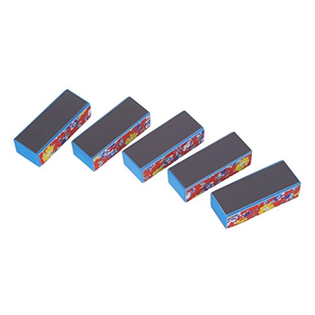 分析的遷移詩Vaorwne 5ブロック-ファイルバッファ4サイド ネイルアートマニキュア