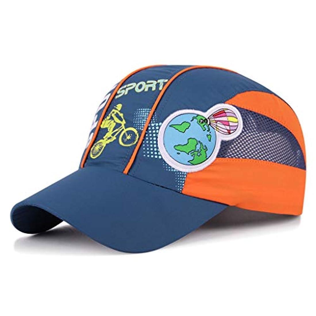 有効化ビジネスロマンス日よけ帽 日焼け止め夏の男性と女性の子供アウトドアスポーツ野球帽速乾性通気性メッシュキャップ日焼け止め日よけ48-56 cm ZHAOSHUNLI (Color : Blue)