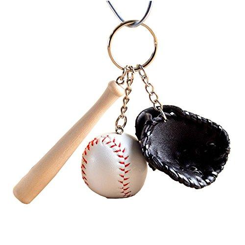 NSD スポーツマンにオススメ 部活 野球 キーホルダー (黒)