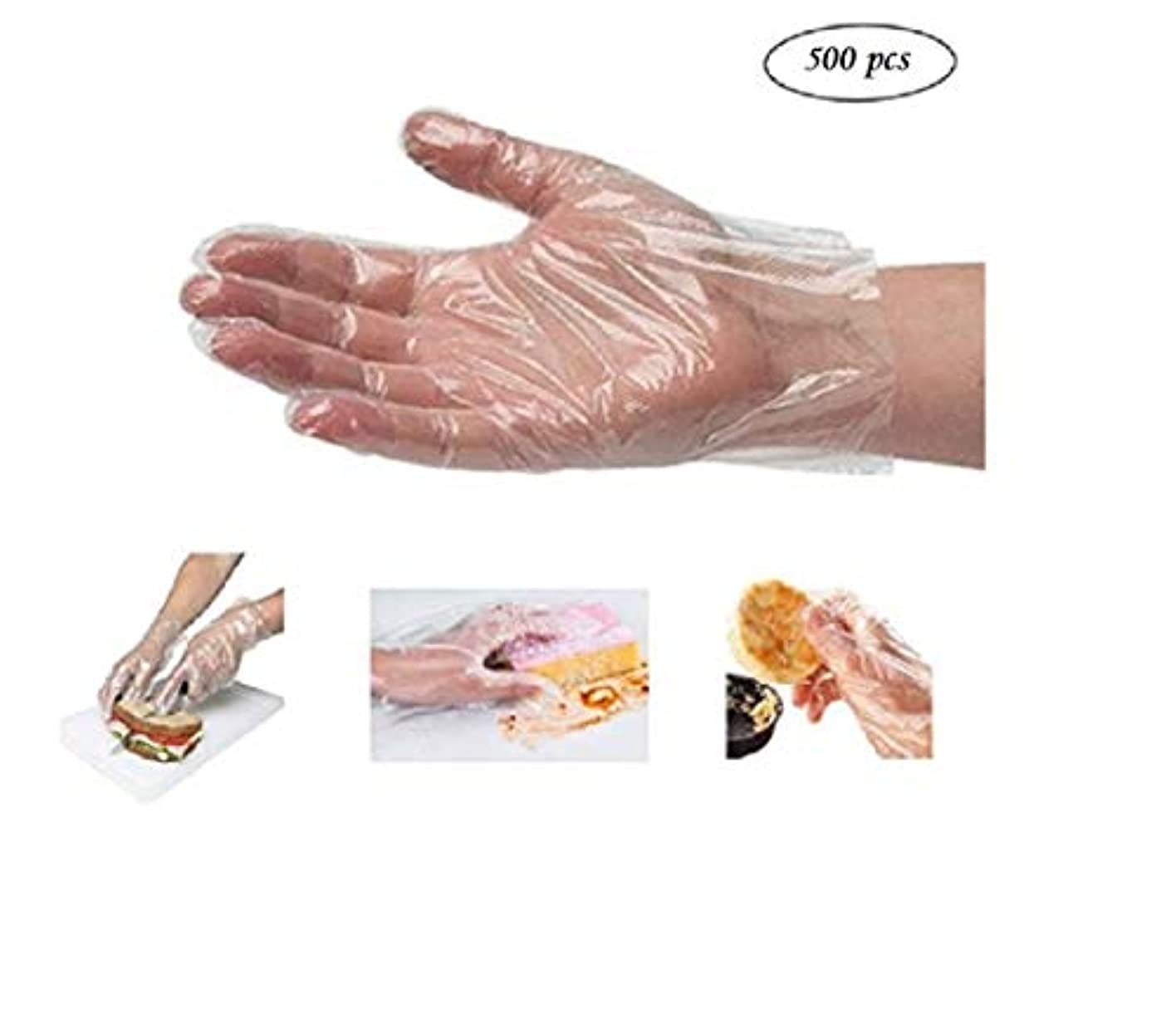 (5) - BYP Clear Disposable Plastic High Density Polyethylene Gloves Sterile Disposable Safety Gloves(500 Sheets...