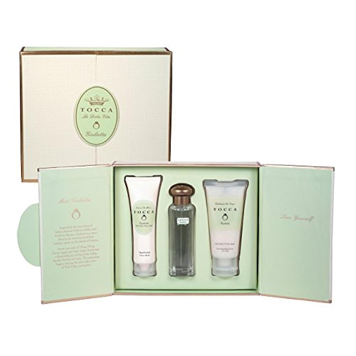 領事館やけど重くするトッカ(TOCCA) ドルチェヴィータコレクション ジュリエッタの香り (香水20ml、ハンドクリーム30ml、ボディーケアスクラブ30ml)