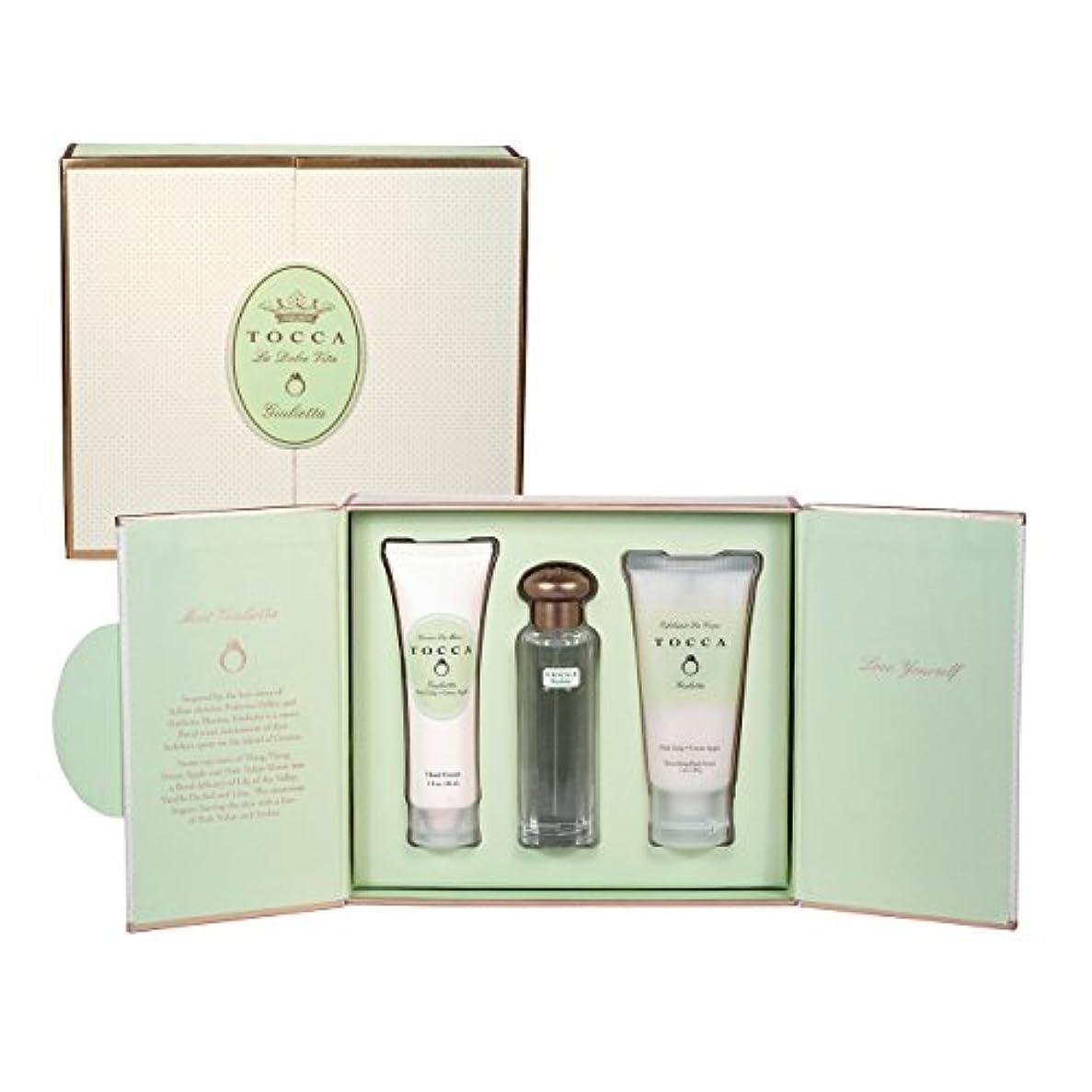 くぼみスチール実験的トッカ(TOCCA) ドルチェヴィータコレクション ジュリエッタの香り (香水20ml、ハンドクリーム30ml、ボディーケアスクラブ30ml)