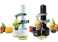 自動電動果物/りんご/梨/ポテトのピーラー携帯型キッチン用具 (黒)