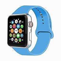 Iyouスポーツバンドfor Apple Watchバンド、ソフトシリコン交換用リストバンドクラシックスポーツストラップiWatch 2017年のApple Watchシリーズ3/ 2/ 1、Edition、Nike +詳細は、すべてのモデル38mm / 42mm色選択 42MM, M/L