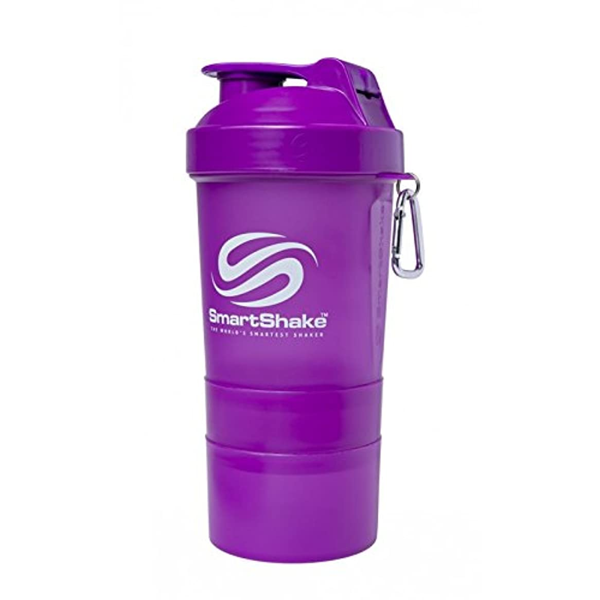 能力柔らかさペグSmartShake Original Shaker Cup, Neon Purple, 20 oz by smartshake