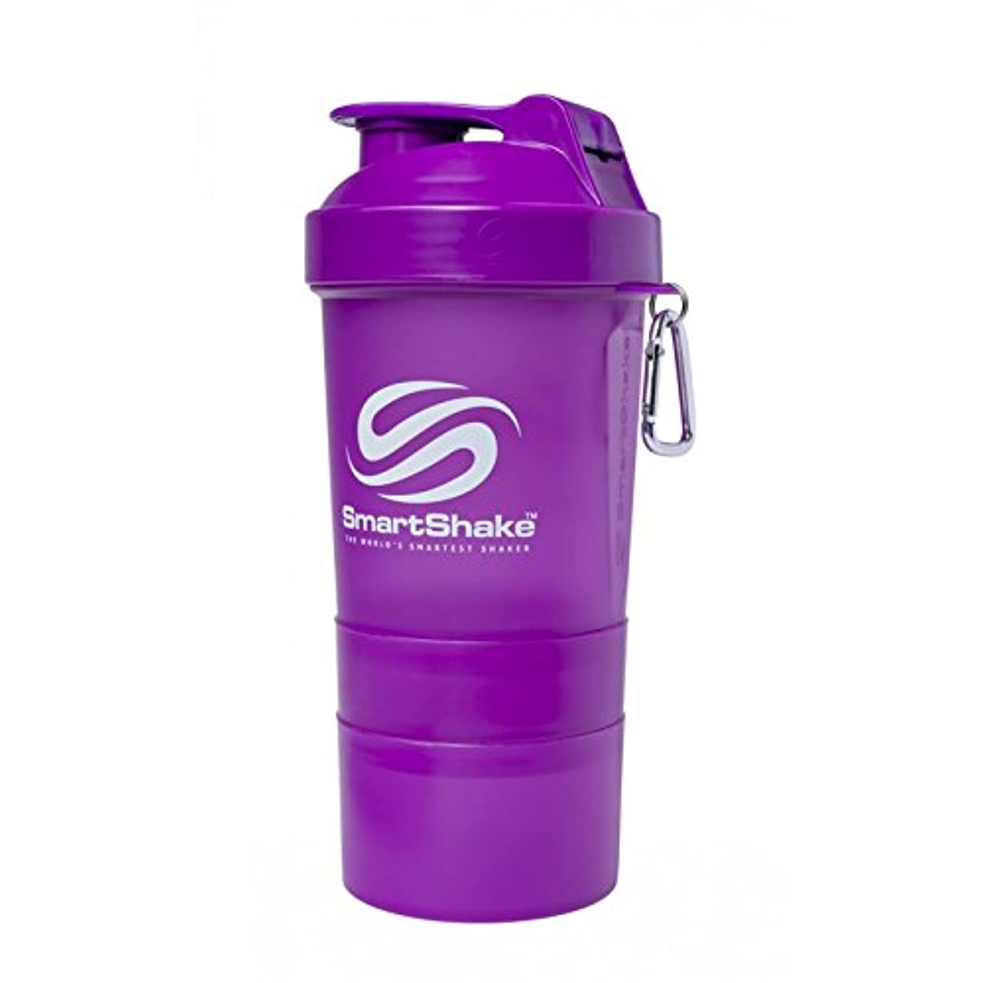 北へ三十目に見えるSmartShake Original Shaker Cup, Neon Purple, 20 oz by smartshake