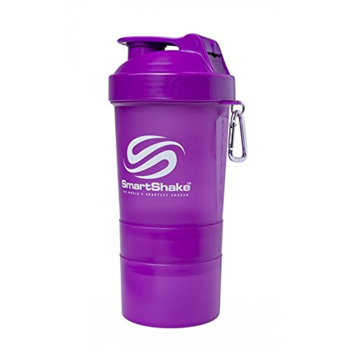 シリアル広く防水SmartShake Original Shaker Cup, Neon Purple, 20 oz by smartshake