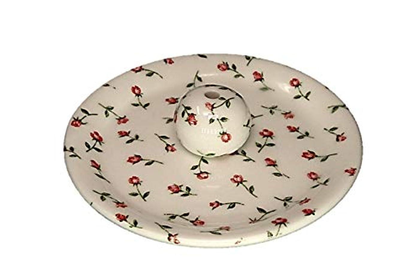 お酒エッセイカウントアップ9-14 ローズガーデン お香立て 9cm香皿 お香たて 陶器 製造 直売品