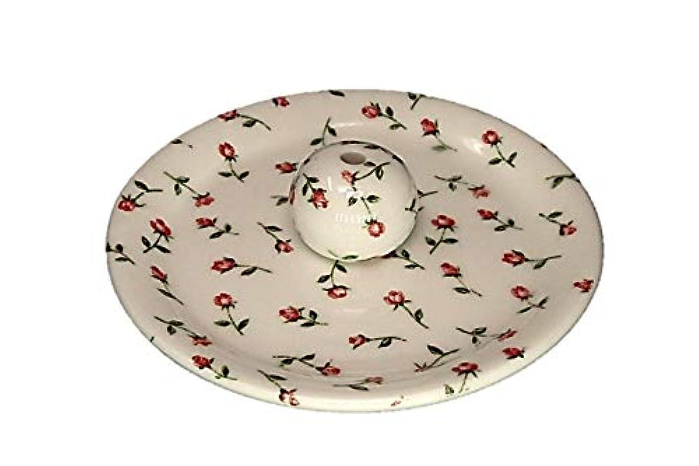 モットー子孫暫定の9-14 ローズガーデン お香立て 9cm香皿 お香たて 陶器 製造 直売品