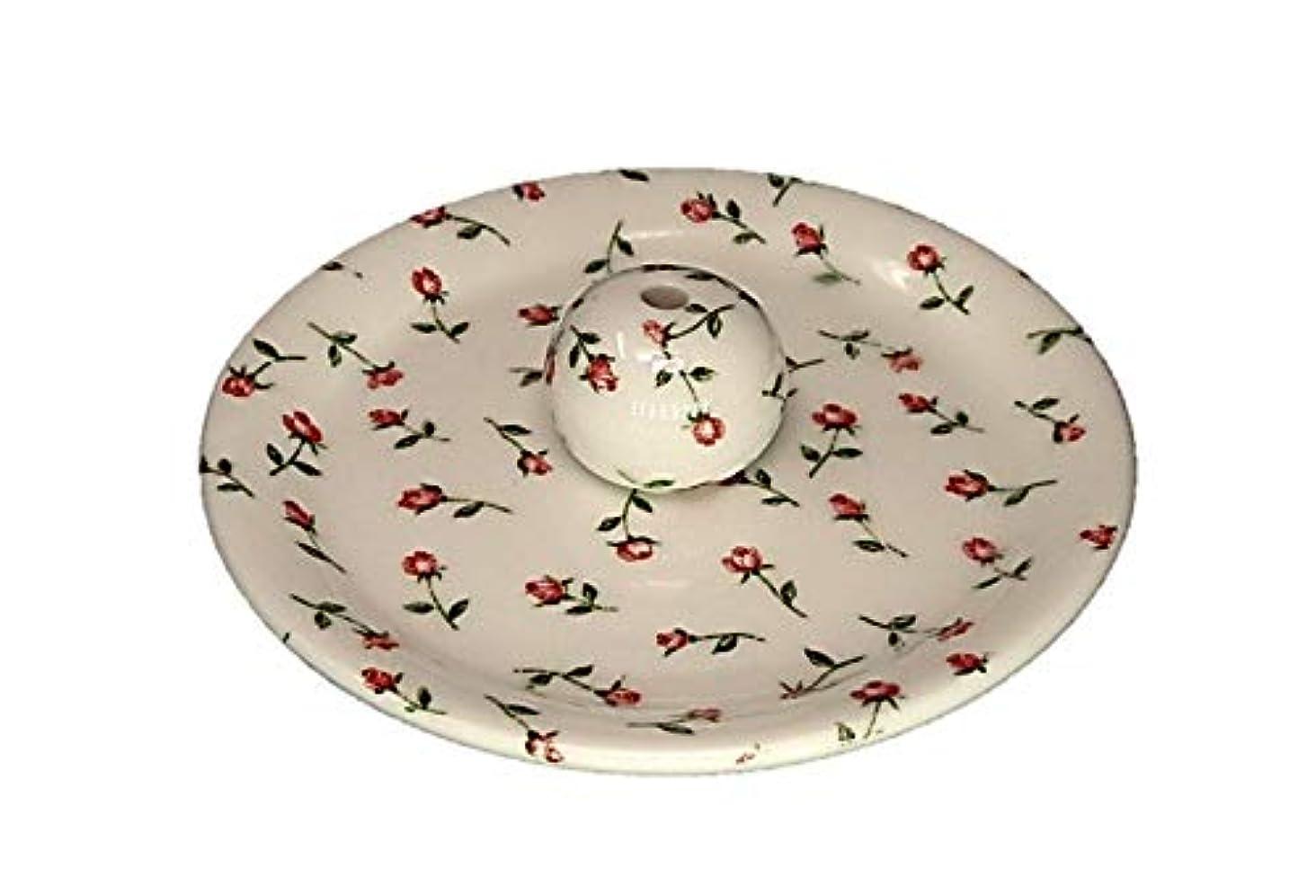打ち負かす柔和姿勢9-14 ローズガーデン お香立て 9cm香皿 お香たて 陶器 製造 直売品