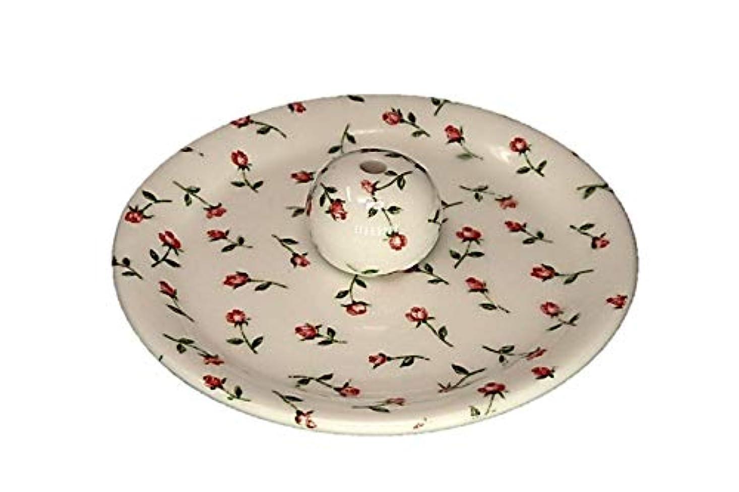 落ち着くカスタム移行する9-14 ローズガーデン お香立て 9cm香皿 お香たて 陶器 製造 直売品