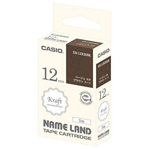 [해외]카시오 라벨 라이터 이름 랜드 크래프트 테이프 12mm/Casio Label Writer Name Land Kraft Tape 12 mm