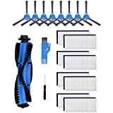 Replacement Parts Compatible with Eufy RoboVac 11S, RoboVac 30, RoboVac 30C, RoboVac 15C,RoboVac 12, RoboVac 35C Accessory Robotic Vacuum Cleaner Filters, Side Brushes, 1 rolling brush,8 side brushes,8 filters