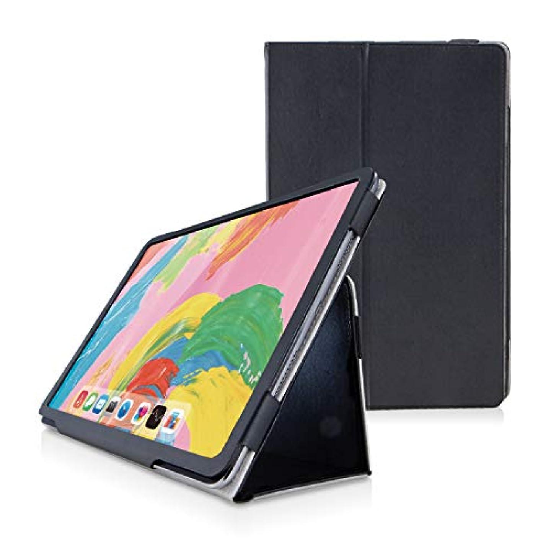 補正便利さ大使館エレコム iPad Pro 11インチ (新iPad Pro 2018年モデル) ソフトレザーカバー 2アングル ブラック TB-A18MPLFBK