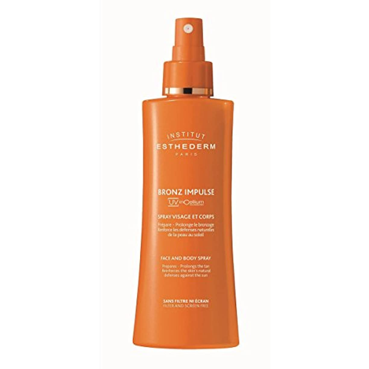 闇隔離する閉じ込めるInstitut Esthederm Bronz Impulse Face And Body Spray 150ml [並行輸入品]